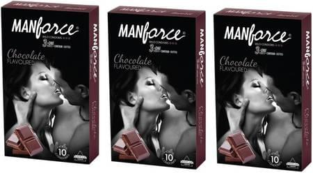 Manforce Wild Condoms Chocolate - Super Saver (3 X 10s)