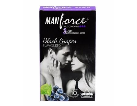 Manforce Wild Condoms Black Grapes Pack Of 10
