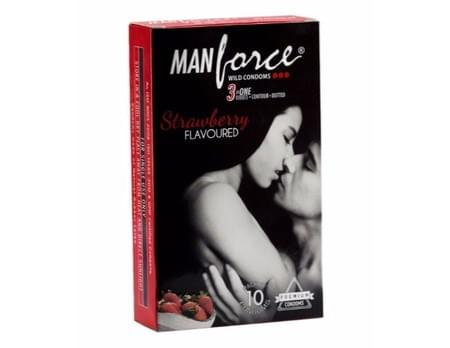 Manforce Wild Condoms Strawberry Pack Of 10
