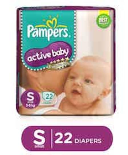 Pampers Active Baby Diapers Small Size 22 Pieces