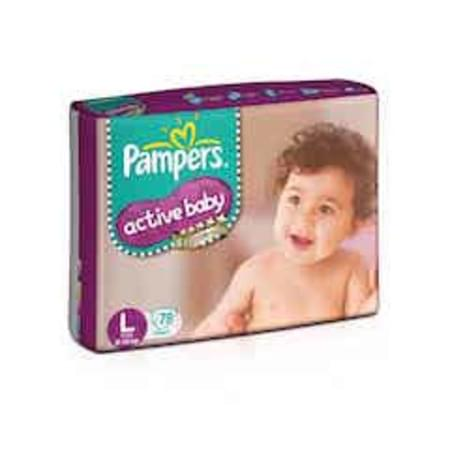 Pampers Active Baby Diapers Large Size 78 Pieces