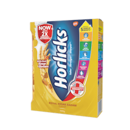 Horlicks Health & Nutrition Drink Refill Pack Kesar Badam 400 Gm