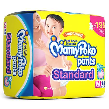 Mamypoko Pants Standard Diaper Medium Size Pack Of 18