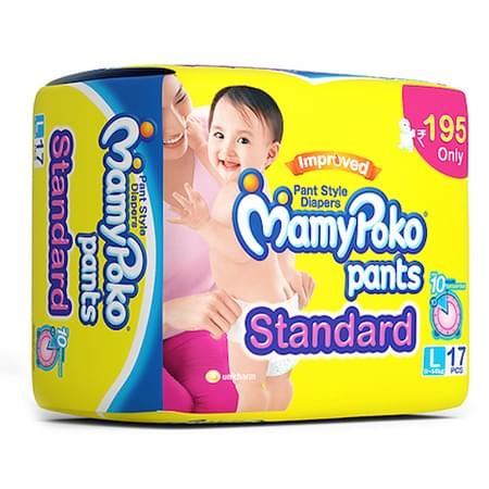 Mamypoko Pants Standard Diaper Large Size Pack Of 17