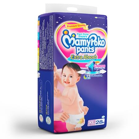 Mamypoko Pants Extra Absorb Diaper Extra Large Size Pack Of 28